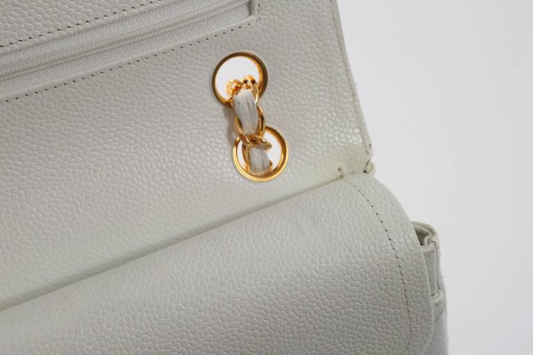 1997-1999 Chanel White Gold Small Double Flap Handbag For Sale at ... aa657adaa1f7c