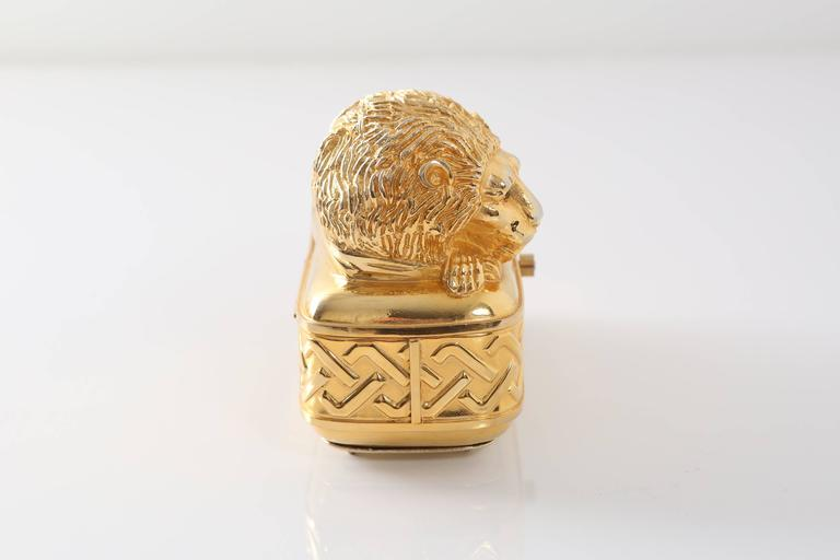 Vintage Judith Leiber Gold Lion Minaudiere For Sale 1