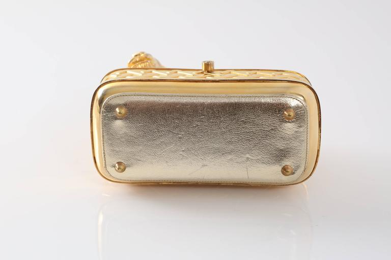 Vintage Judith Leiber Gold Lion Minaudiere For Sale 2