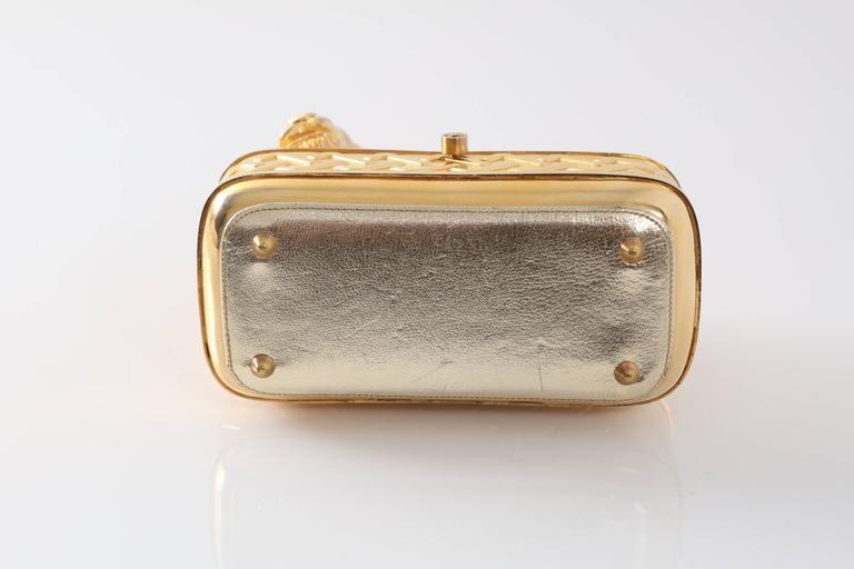 Vintage Judith Leiber Gold Lion Minaudiere 6