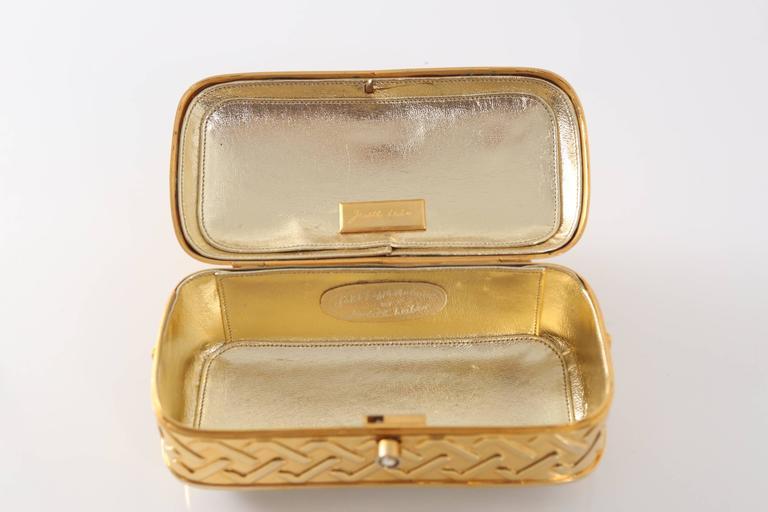Women's Vintage Judith Leiber Gold Lion Minaudiere For Sale