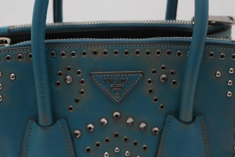 Prada Vitello Vintage Embellished Tote Fall 2014 2