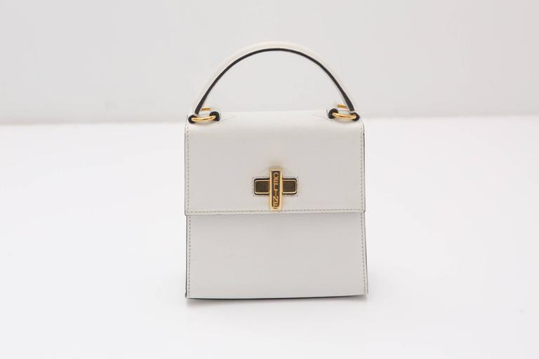 Celine 90s Kelly Style Bag W/ Shoulder Strap 3