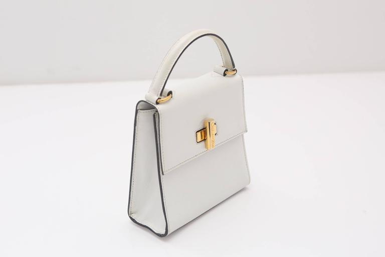 Celine 90s Kelly Style Bag W/ Shoulder Strap 4
