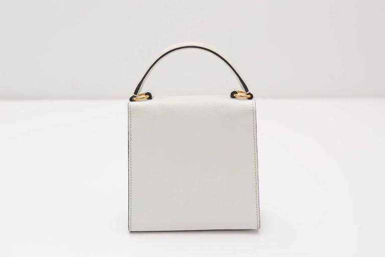 Celine 90s Kelly Style Bag W/ Shoulder Strap 5
