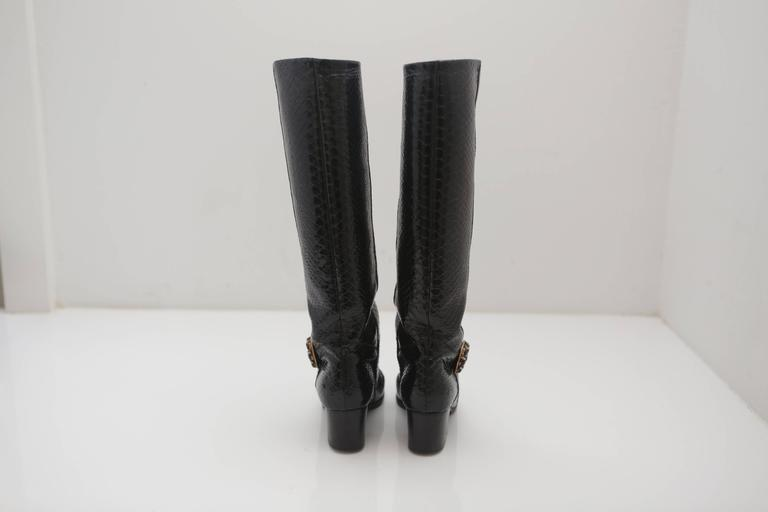 Women's Chanel Snake Boots  For Sale