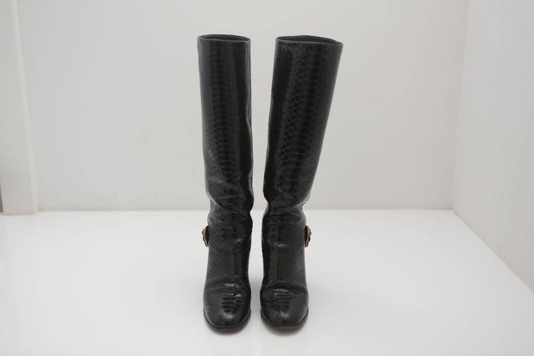Chanel Snake Boots  For Sale 2