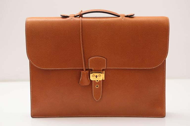 Brown Hermes Sac A Depeches Tan For Sale