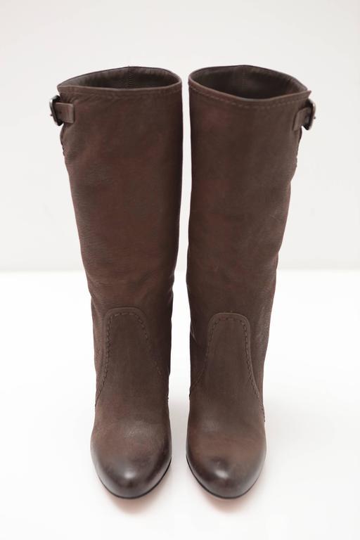 Prada Mid-calf Brown Leather Boots 3