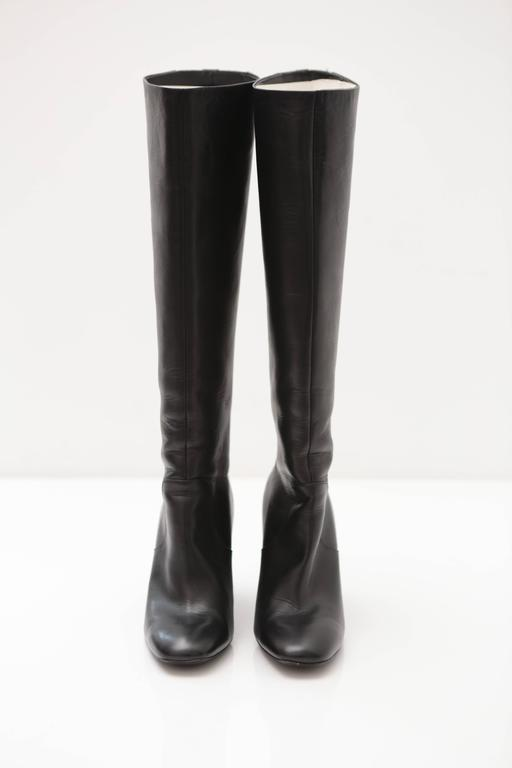 Nicholas Kirkwood Black Knee High Boots In Excellent Condition For Sale In Bridgehampton, NY