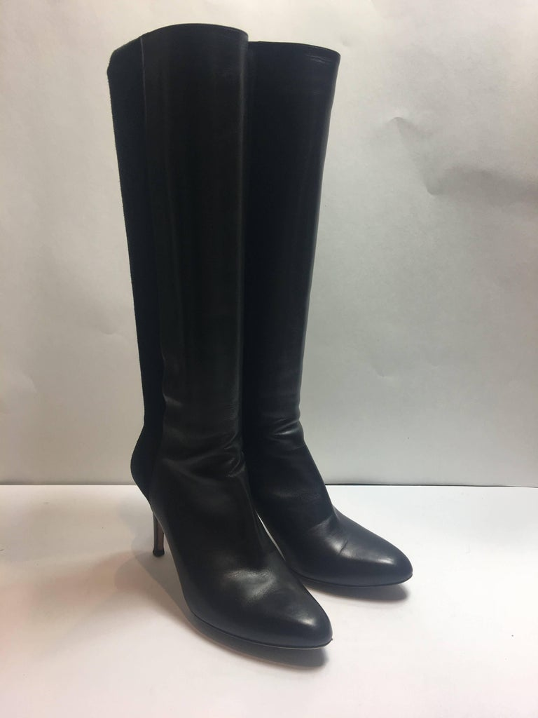 Jimmy Choo Suede Detail Boot in Black in Size 39.5