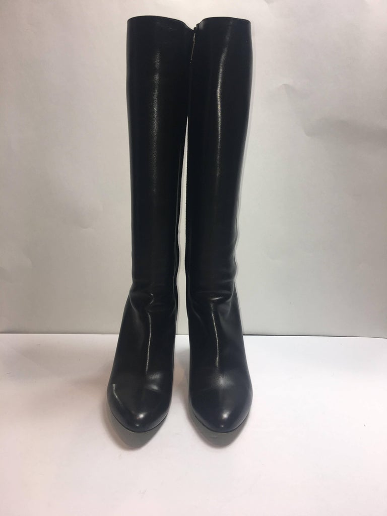 Black Jimmy Choo Suede Detail Boot For Sale