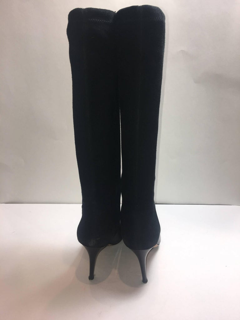 Jimmy Choo Suede Detail Boot In Excellent Condition For Sale In Southampton, NY