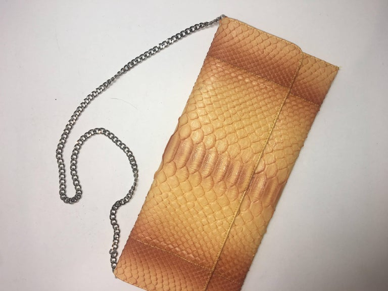 Carlos Falchi Python Clutch In Excellent Condition For Sale In Southampton, NY