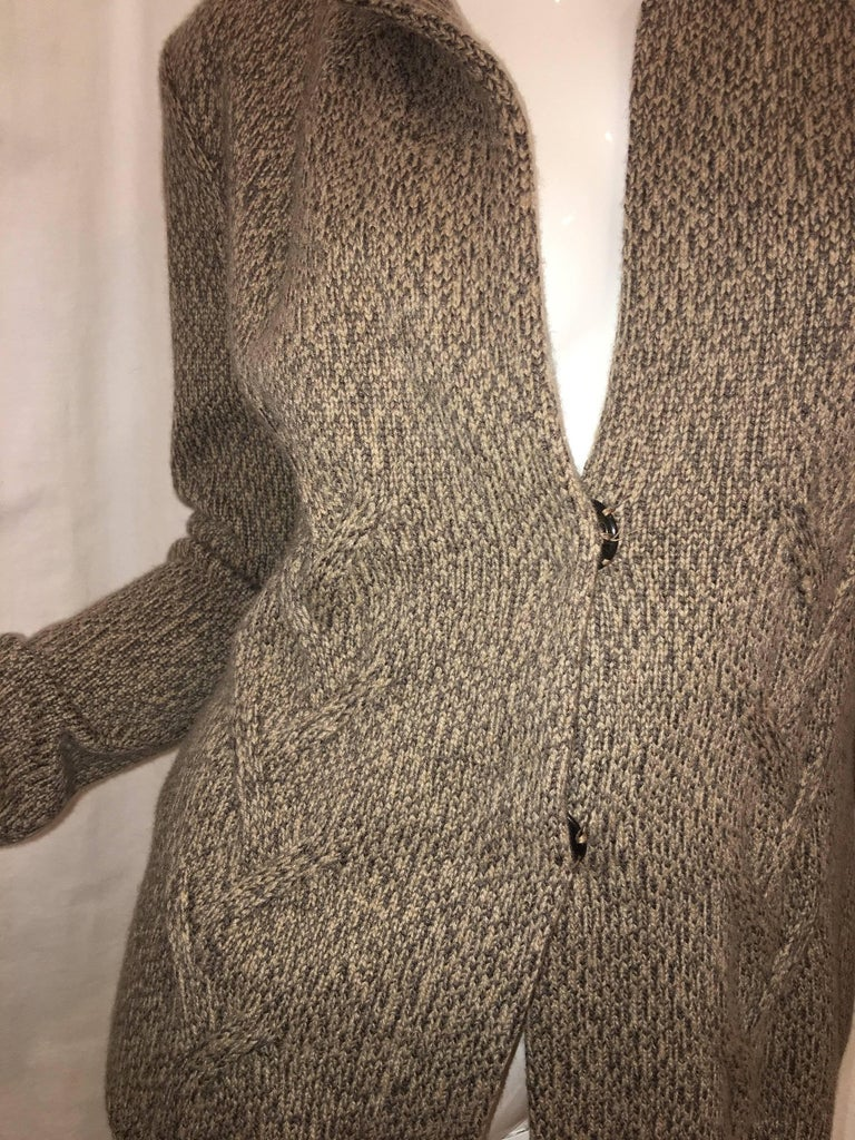Lorena Antoniazzi Dual Button Cashmere Blend Sweater Coat.