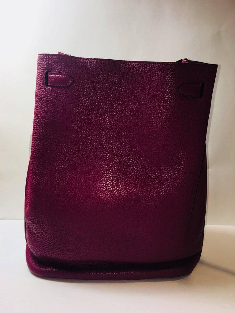 Women's or Men's Hermes Plum So Kelly Bag For Sale