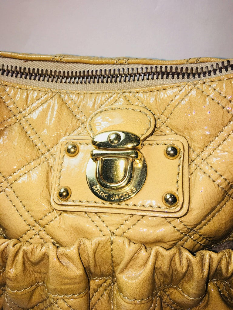 Brown Marc Jacobs Patent Leather Bag For Sale