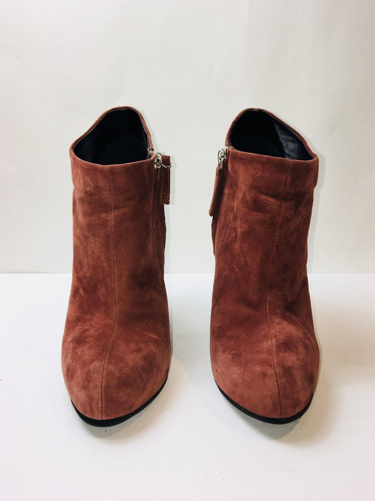 Brown Giuseppe Zanotti Suede Booties For Sale