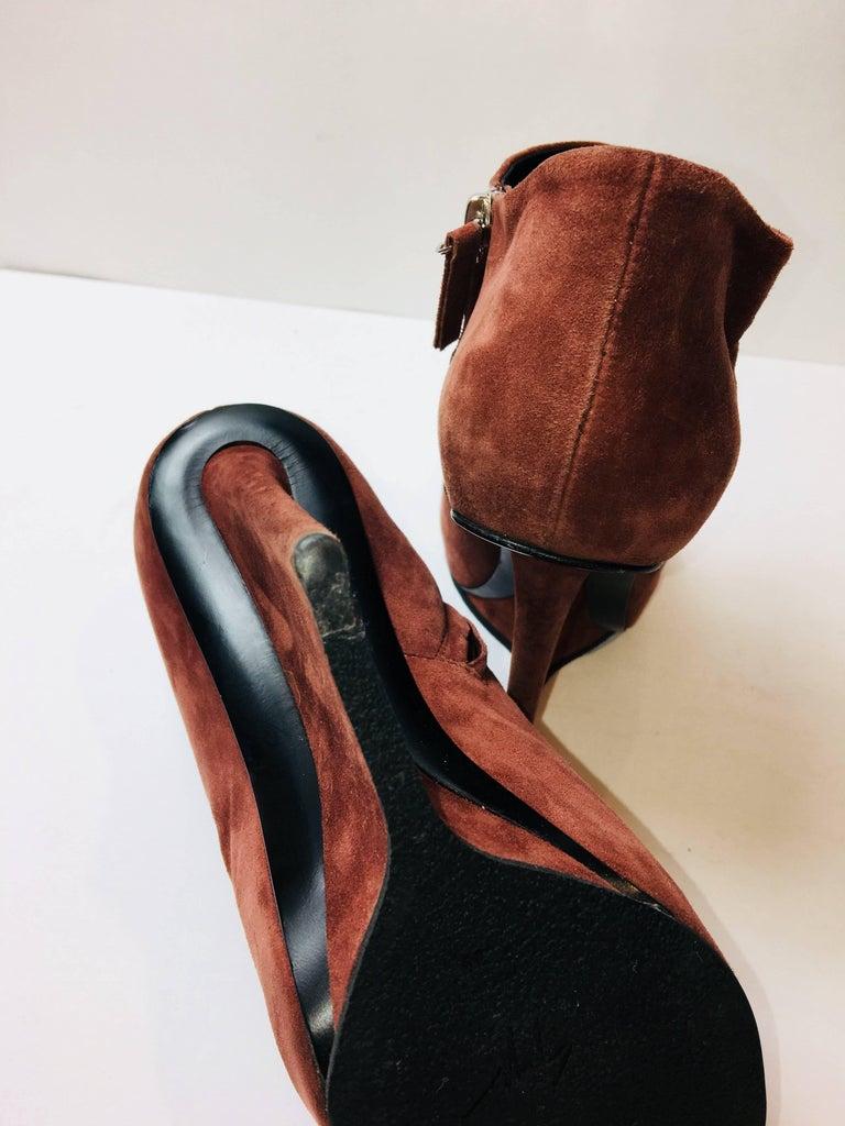Giuseppe Zanotti Suede Booties For Sale 2