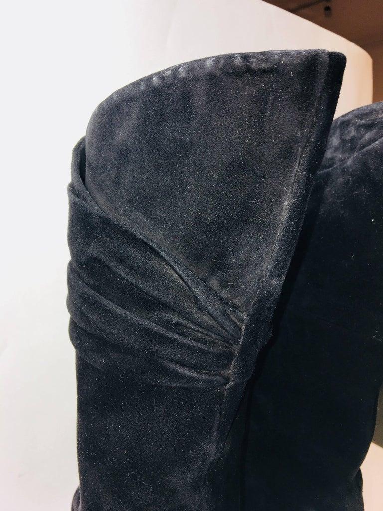 Women's Prada Mid Calf Suede Boot For Sale