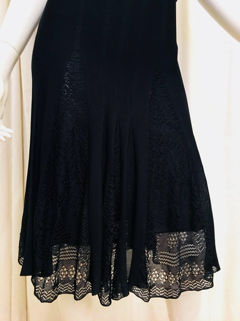 Black Chanel Knit Dress For Sale