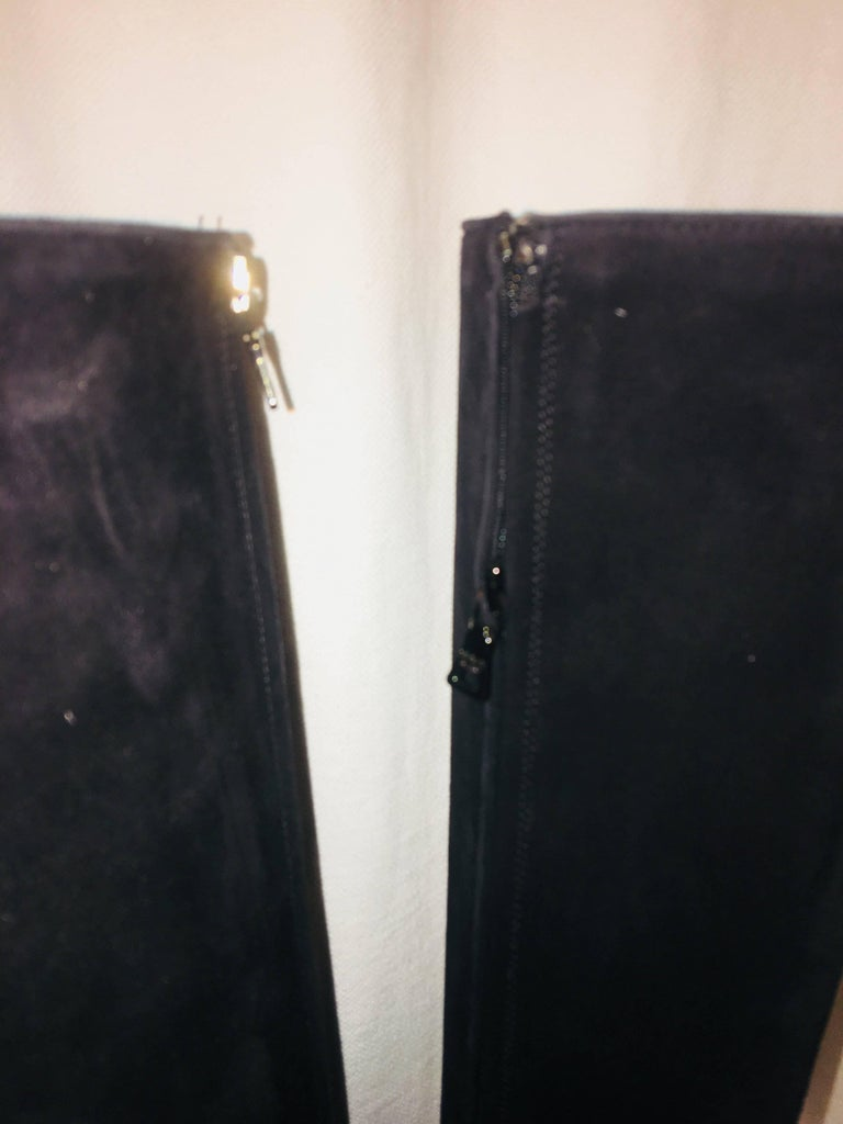 Prada Knee High Boot In Excellent Condition For Sale In Southampton, NY