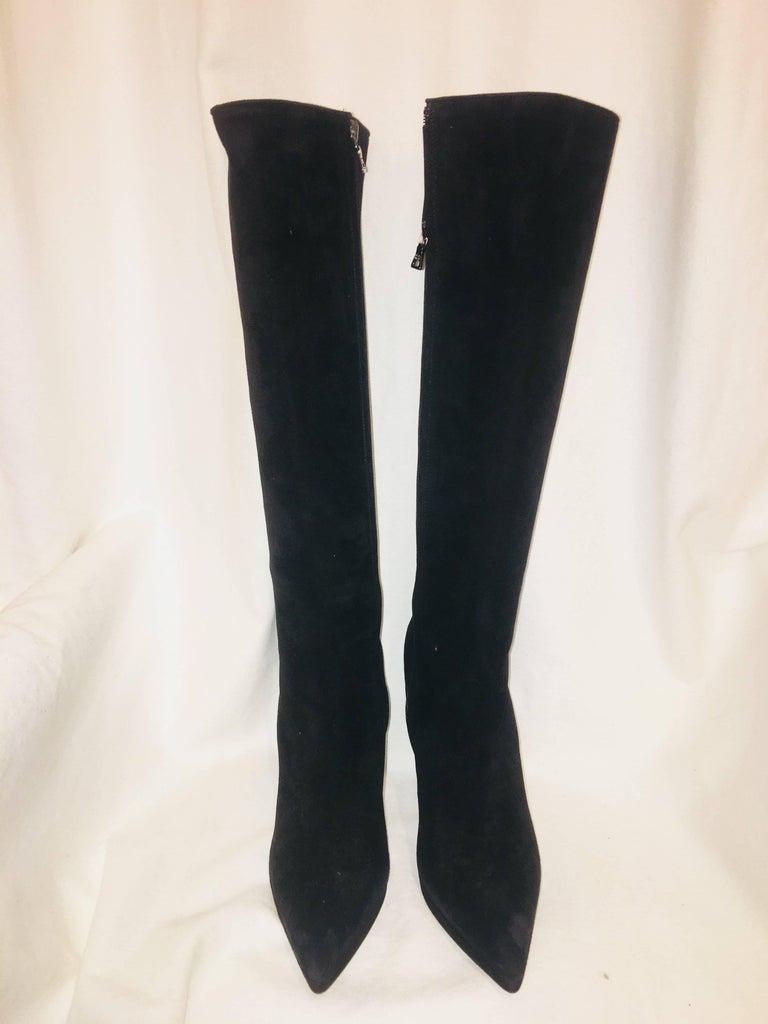 Black Prada Knee High Boot For Sale