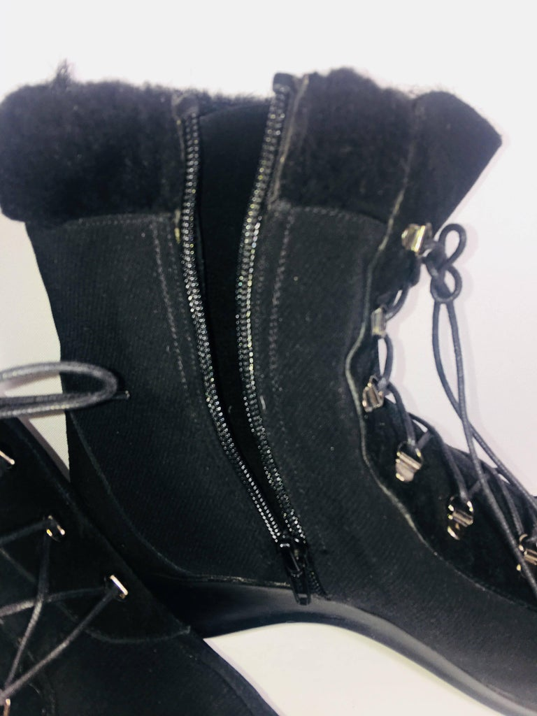 Black Stuart Weitzman Wedge Ankle Boots For Sale