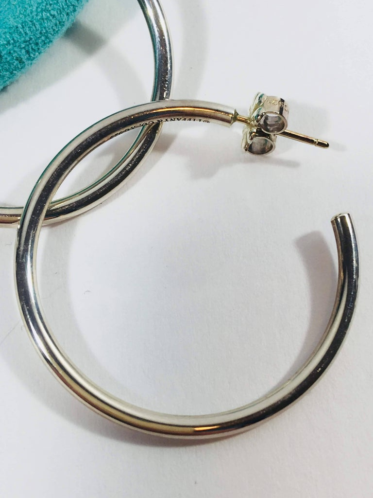 Tiffany Co Hoop Earrings In Excellent Condition For Southampton