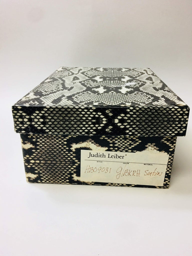 Judith Leiber Zebra Clutch For Sale 13