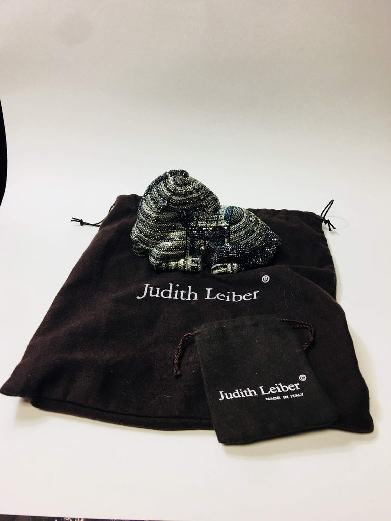 Judith Leiber Zebra Clutch For Sale 11