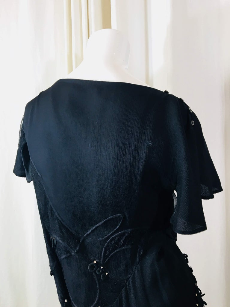 Chloe Short Sleeve Dress With Crystals For Sale 4