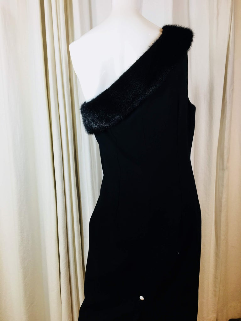Michael Kors Black One Shoulder Dress For Sale 2