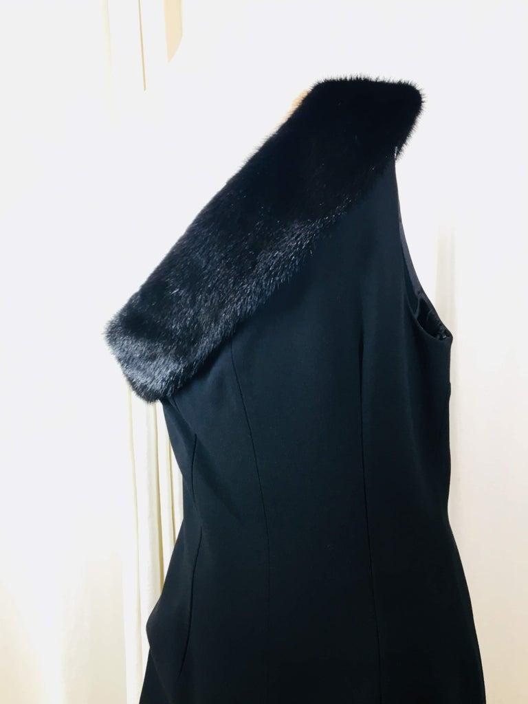 Michael Kors Black One Shoulder Dress For Sale 3