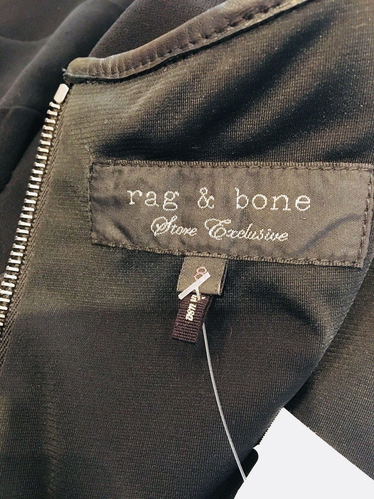 Rag & Bone Black Sleeveless Pleated Dress For Sale 5