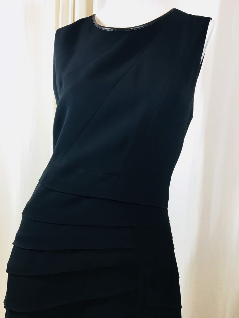 Rag & Bone Black Sleeveless Pleated Dress In Good Condition For Sale In Southampton, NY