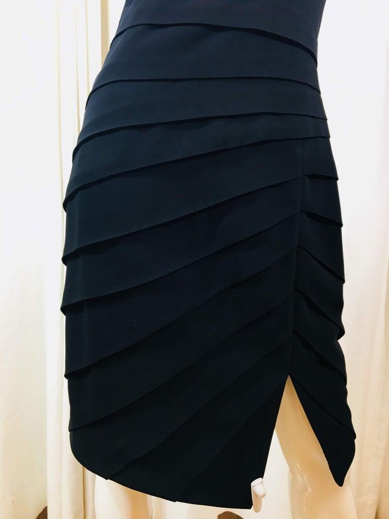 Women's Rag & Bone Black Sleeveless Pleated Dress For Sale