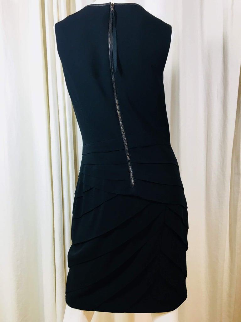 Rag & Bone Black Sleeveless Pleated Dress For Sale 1
