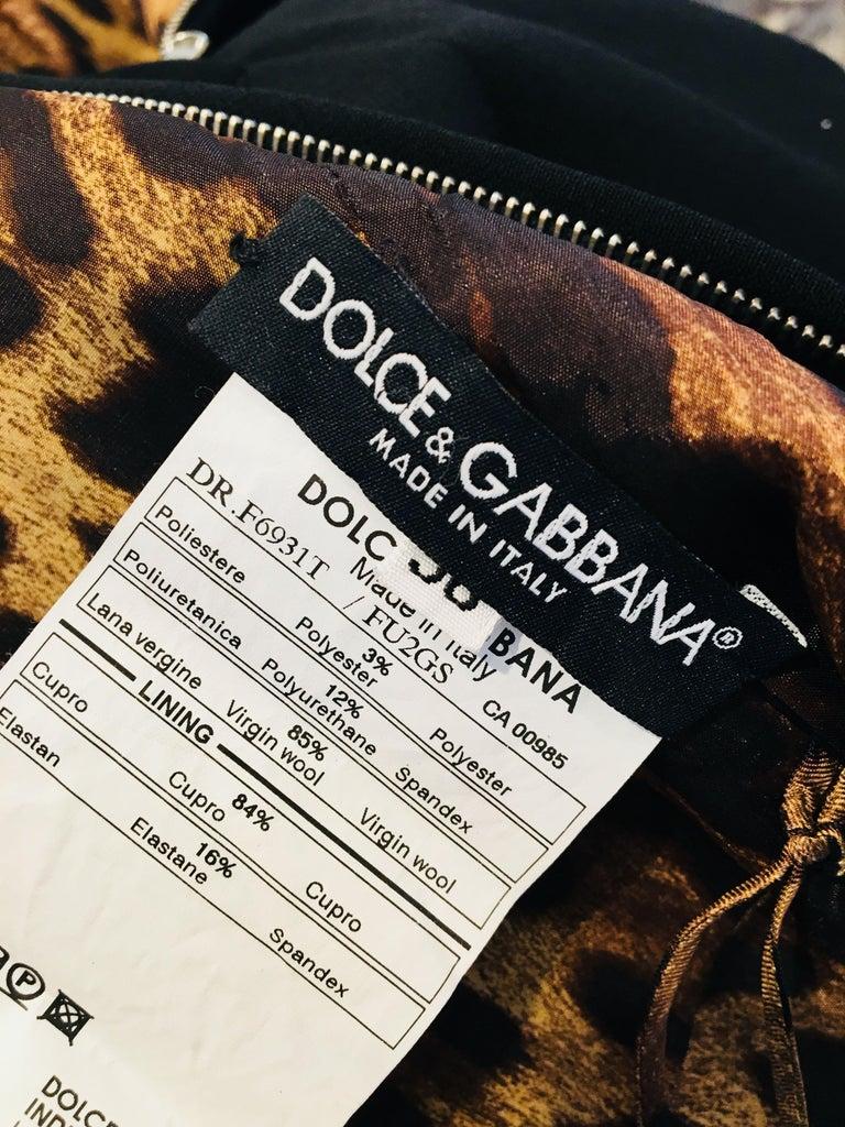 Dolce & Gabbana Black Sleeveless Dress For Sale 6