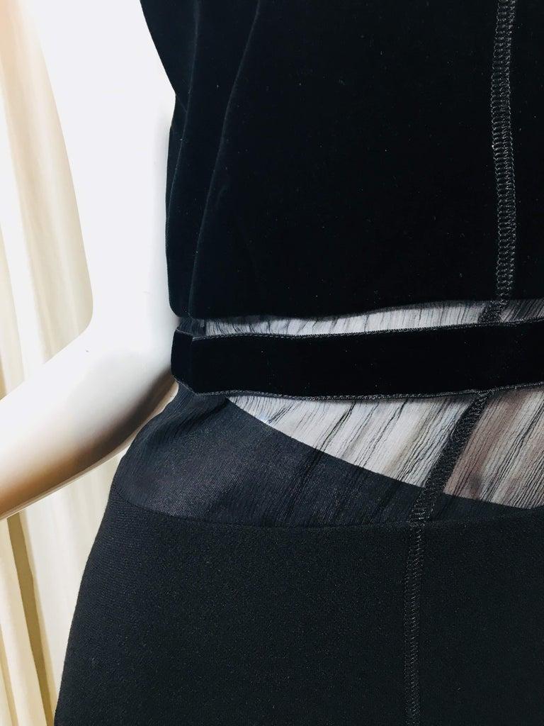 Prada Black Spaghetti Strap Dress  For Sale 2