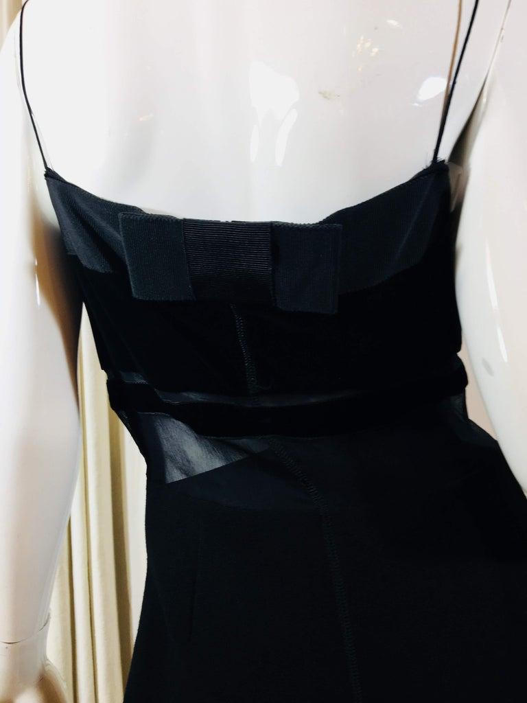 Prada Black Spaghetti Strap Dress  For Sale 5