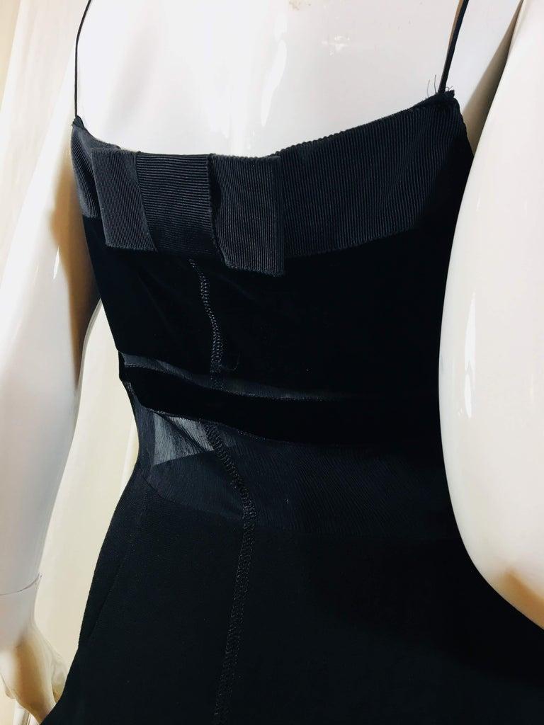 Prada Black Spaghetti Strap Dress  For Sale 6