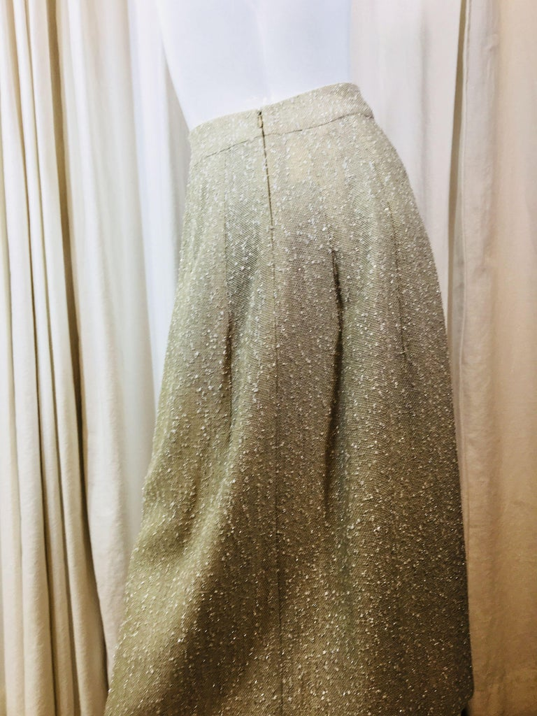 Women's Chanel Taupe Tweed Skirt  For Sale