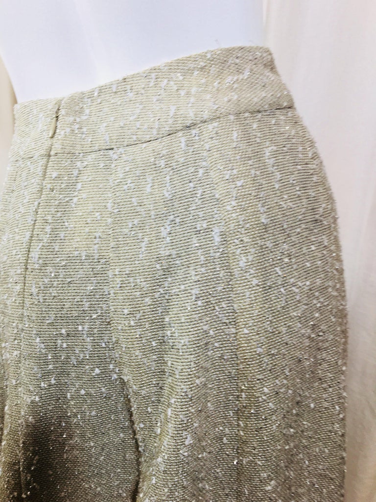 Chanel Taupe Tweed Skirt  For Sale 2