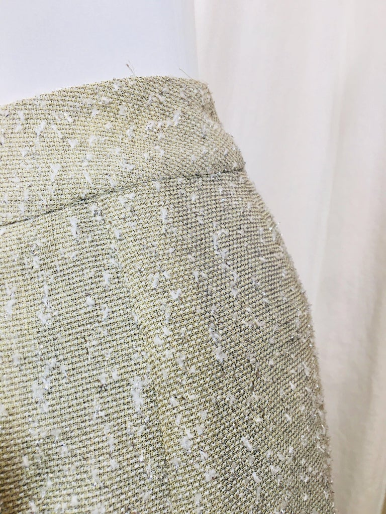 Chanel Taupe Tweed Skirt  For Sale 3