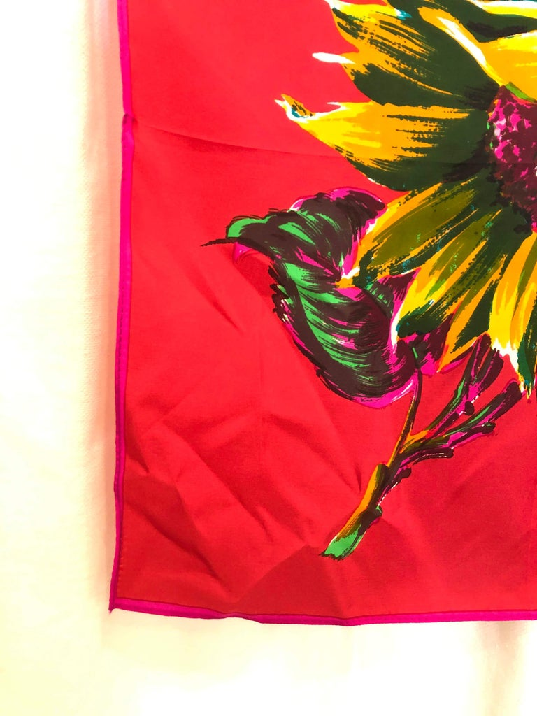 Kenzo Silk Scarf  In Good Condition For Sale In Southampton, NY