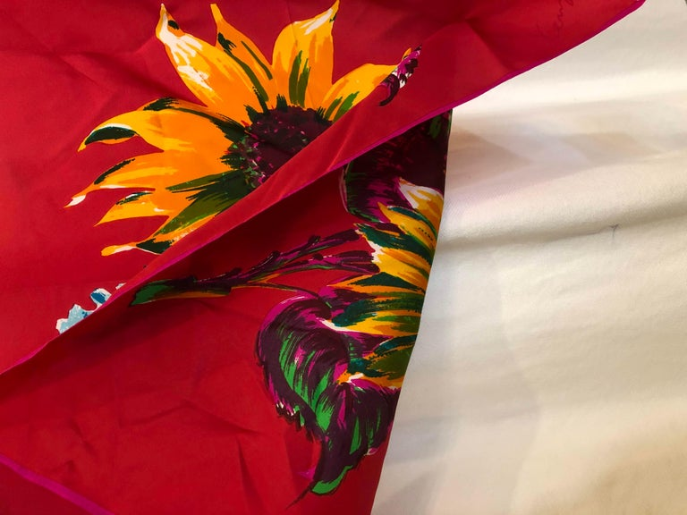 Kenzo Silk Scarf  For Sale 5