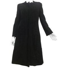 Prada Wool Floral Applique Coat