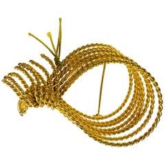 Lanvin Gold Plated Brooch