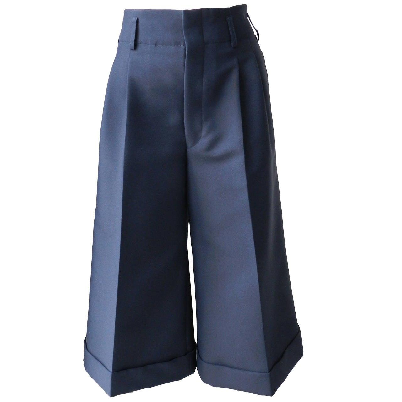 Comme des Garcons Navy Blue Culottes 1